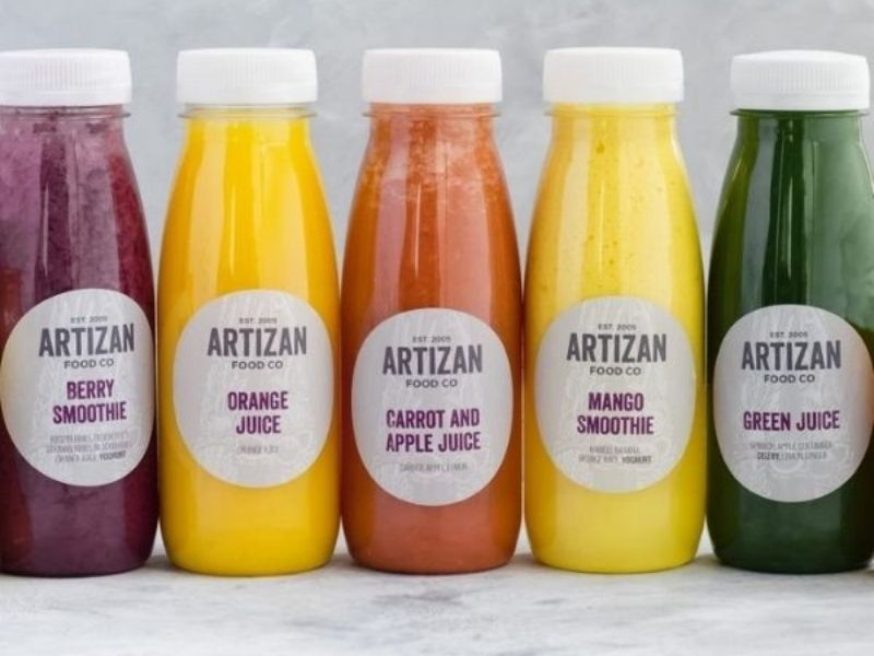 juices and smoothies selection